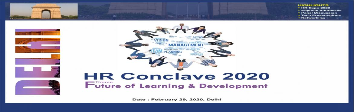 Book Online Tickets for HR Conclave 2020 on Artificial Intellige, Bengaluru. Introduction: Institute of HRD, will be hosting a HR Conclave on August 29, 2020, at Bangalore to deliberate on the theme Artificial Intelligence in HR. In this HR Conclave HR and L & D professionals are expected to participate and deli