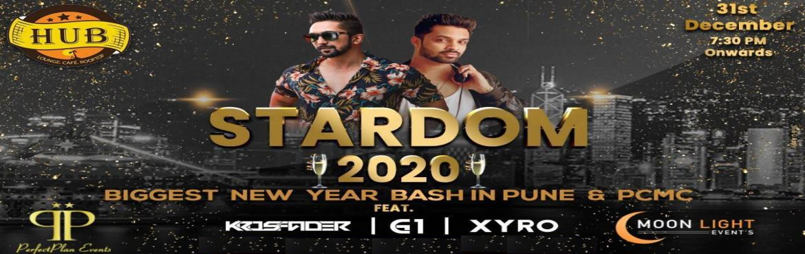 Book Online Tickets for STARDOM 2020, Pune. STARDOM 2020 New Year Bash Exciting Discounts Only Till 5pm Today.Hurry.. Ab kis Baat Ka Intazar..Grab Your Passes Now... 20,000RS Worth Cashback Vouchers Today\'s Passes Rates are as below: Regular Stag: 2000Rs Regular Couple:3500RS Premium Stag: 25