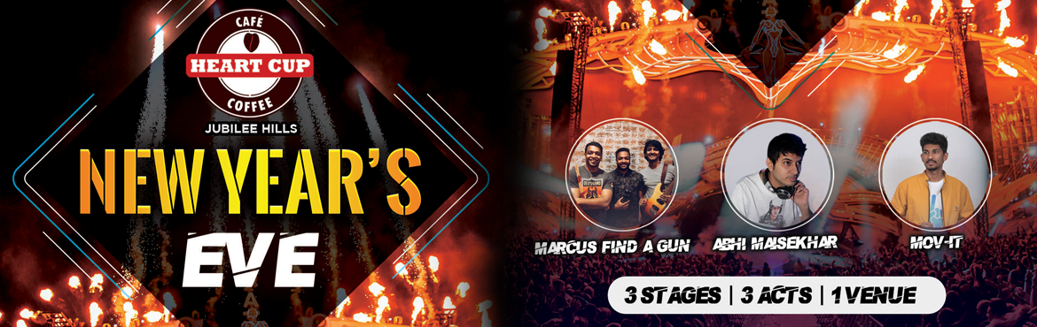 Book Online Tickets for NEW YEAR CARNIVAL at HEART CUP COFFEE, Hyderabad. Join us for an ultimate New Year's bash that Heart Cup Coffee, Jubilee Hills is known for. With three zones and three unique acts. While the op3en air cafe section, will have Hyderabad\'s top band Marcus Find A Gun performing.  Artists:&nb