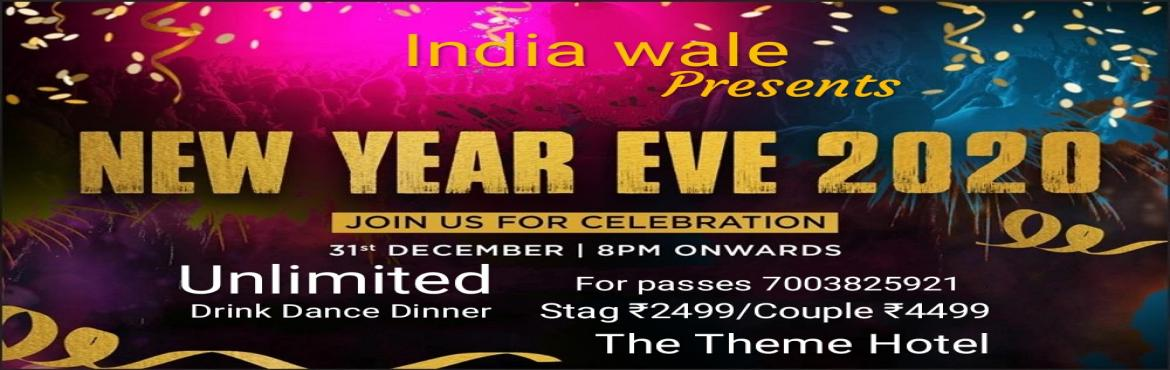 Book Online Tickets for India wale presents New Year 2020 evenin, Jaipur. We are presenting New Year 2020 evening party on 31st Dec 2019 at 8 pm onwards. Give a Kick-Start to Your New Year by joining us on 31st Dec 2019 evening and have Great Experience. We are providing:   DJ Night with Unlimited Food & Drinks A