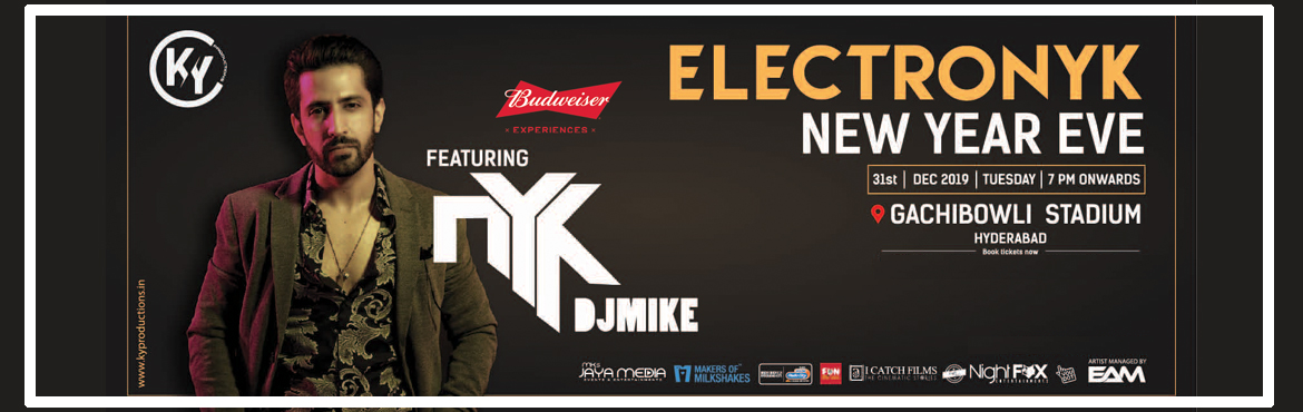 """Book Online Tickets for ELECTRONYK 2020, Hyderabad. ELECTRONYK 2020is Hyderabad's most happening mega event of 2019. ELECTRONYK 2020 is hosted and featured by Bollywood's most happening and the DJ by,""""Dj NYK""""who is a specialized and versatile Bollywood, Hip Ho"""