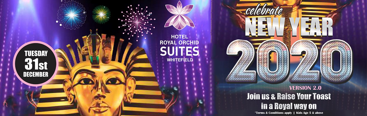 Book Online Tickets for NYE 2020 Celebrate Royal Orchid Suites, Bengaluru.  NYE 2020 Celebrate Royal Orchid Suites New Year\'s Eve event looks colorful and promising but here\'s one that is better than the rest and stands out as the best. Enjoy Unlimited Liquor, Cocktails, DJ Music and Dance Floor, Starters and Live Co