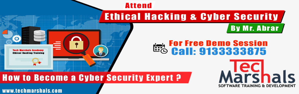 Book Online Tickets for Ethical Hacking and Cyber Security Demo , Hyderabad. {{{{{{{{{{{{{{Must Read }}}}}}}}}}}}}}  How to Become a Cyber Security Expert? or If you want your career in Ethical Hacking? Ethical HackingDemo Goals Includes:  Who is an Ethical Hacker? Requirements to Become an Ethical Hacker Ro