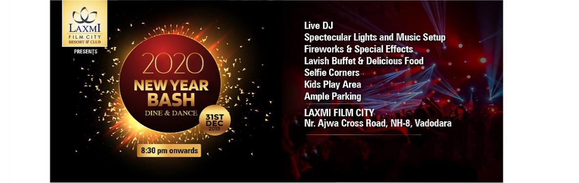 Book Online Tickets for New Year Party at Laxmi Film City, Vadodara. Enjoy New Year Eve with Bollywood Live DJ Dance Party at Laxmi Film City, The Best Family Party in Baroda This New Year Eve.Lavish Buffet, Attractive Decor, Selfie Corners, Ample Inside Parking & Safe Environment.*T&C Applies.