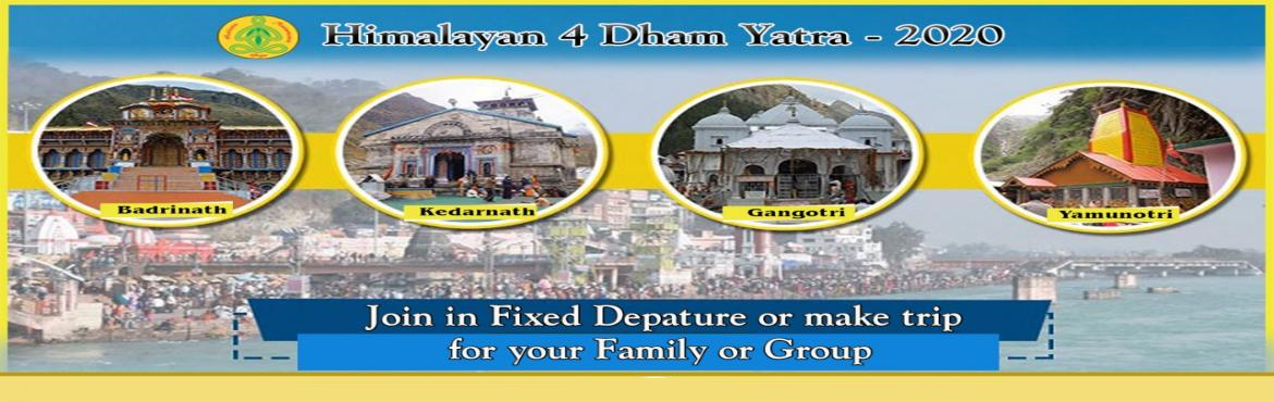 Book Online Tickets for 4 Dham Yatra Spiritual Retreat 1, Haridwar. Himalayan 4 Dham Yatra 1 - Spiritual Retreat Himalayan 4 Dham - Spiritual Retreat-Chardham Yatra (Yamunotri, Gangotri, Kedarnath & Badrinath). Cost Per Person:- Rs. 34500/-. Booking with Rs. 15000/- and Balance amount before Yatra Starts. F