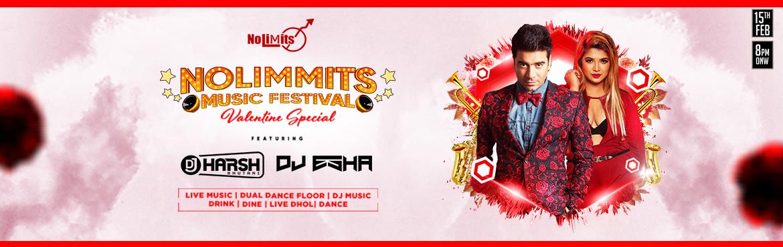 Book Online Tickets for Nolimmits Music Festival Valentines Spec, Bengaluru. Nolimmits Music Festival Valentines Special Presenting the \