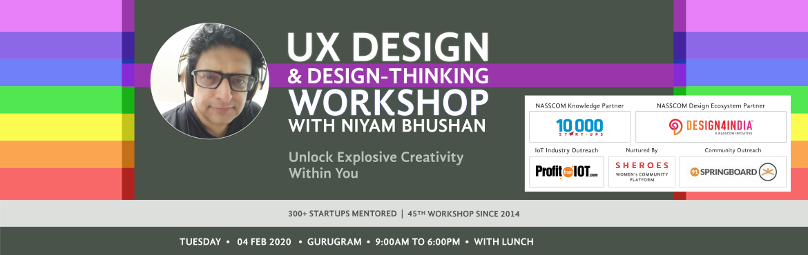 One-day workshop on on User-Experience UX Design. For mobile and tablet apps, web, UI, Internet-of-things (IoT). Gurugram, Haryana, NCR India, Niyam B