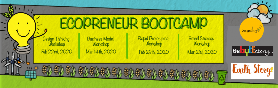 Book Online Tickets for Ecopreneur Bootcamp - All Workshops, Chennai. Hello Ecopreneurs, We are glad to bring to you an exclusive 4 workshop series forEcopreneurs in Chennai. This series ofworkshops are specifically designed for entrepreneurs likeYOU. You could be a first-time entrepreneur or a season