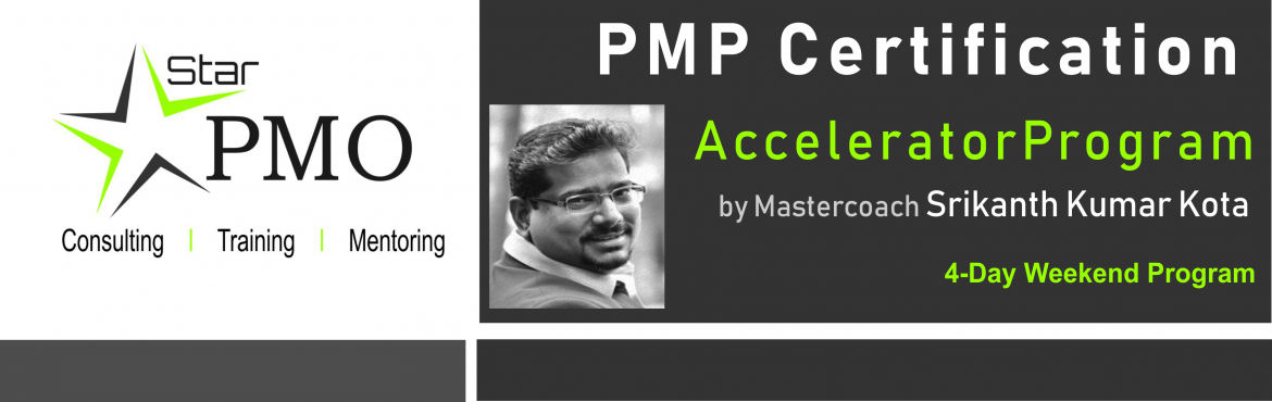 Book Online Tickets for StarPMO PMP Certification Accelerator Pr, Pune. StarPMO has announce dates for its flagship PMP Certification Accelerator Program at Hyderabad.  Workshop Dates:  22nd, 23rd and 29th Febraury, 1st March 2020 Location: B-4, Sukhwani Park, North Main Road, Koregaon Park, Pune  \'Limited Number o