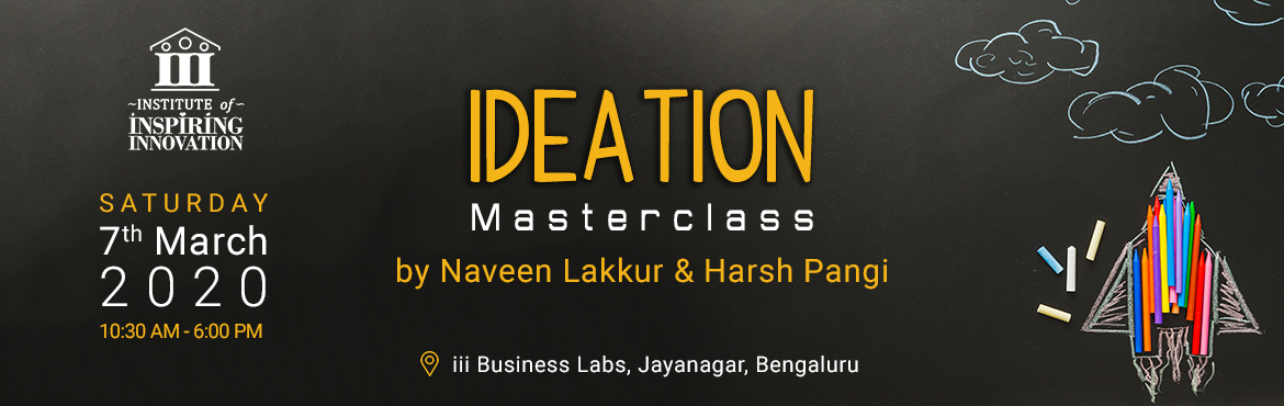 Book Online Tickets for Ideation - Turn Unlimited Thoughts Into , Bengaluru. Smart people do not have the problem of not having ideas. They actually have the problem of too many ideas. The challenge is picking the right idea to pursue. Ideation is not just a bulb glowing! Many a time, people think ideation is an art and do no