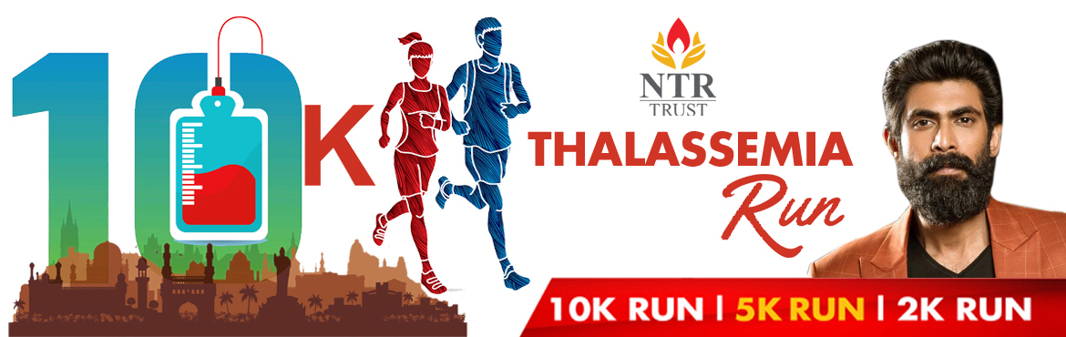 "Book Online Tickets for THALASSEMIA RUN, Hyderabad. A good laugh and a long run are the two best cures for anything""   NTR Memorial Trust, a certified Thalassemia Care center is organizing Thalassemia run in three categories - 10K,5K,2K on 5th April 2020 at Gachibowli Stadium to create"