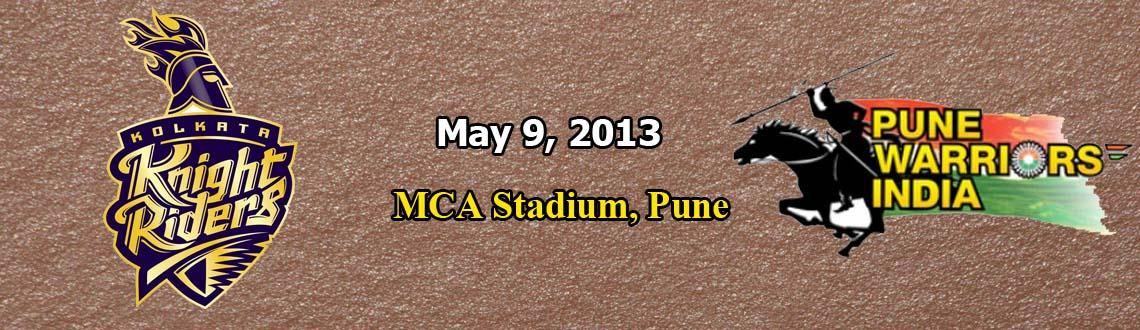 Pune Warriors India vs. Kolkata Knight Riders @ MCA Stadium, Pune