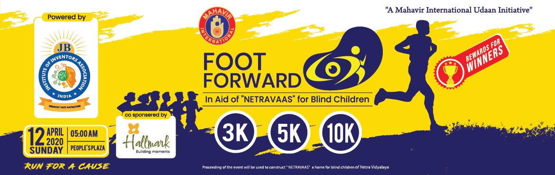 """Book Online Tickets for FOOT FORWARD, Hyderabad. Mahavir International Udaan """"Foot Forward"""" 10K Run Mahavir International Udaan (NGO) is coming up with a fund-raising event a 3k/5k/10k run\"""