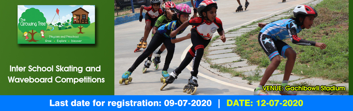 Book Online Tickets for Inter school skating and wave board comp, Hyderabad.  Skating:-  Competition will be held on 12.07.2020. The last date for submission of the Entry Form is 08.07.2020. Separate races will be held for Tenacity skaters, Quad skaters, and Inline skaters. Referee\'s decision will be final and binding.