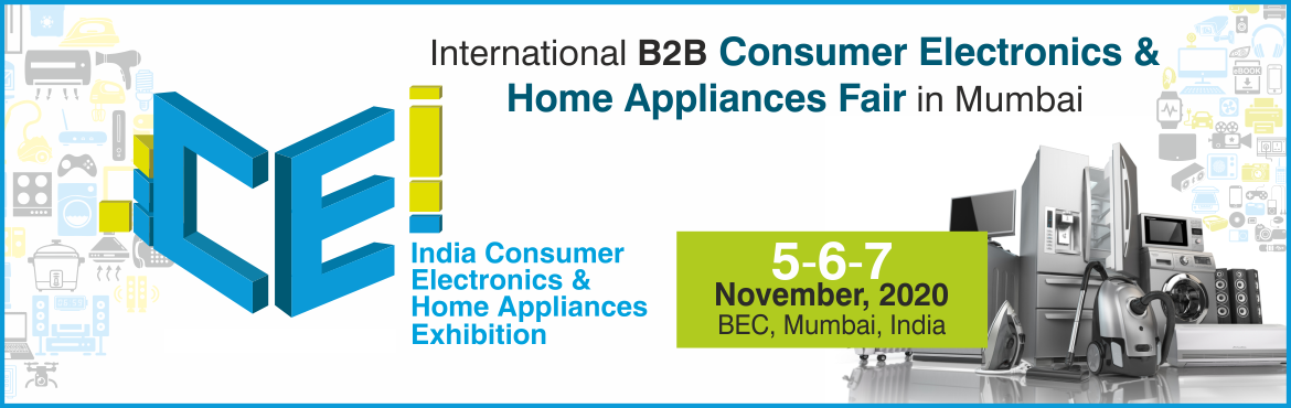 Book Online Tickets for CEI - India Consumer Electronics and Hom, Mumbai. The CEI expo is the complete B2B show presenting a comprehensive sourcing, trading, manufacturing and production solution designed to fulfil the needs of the electronics, home appliances and personal care industry.CEI 2020 looks to bring qualit
