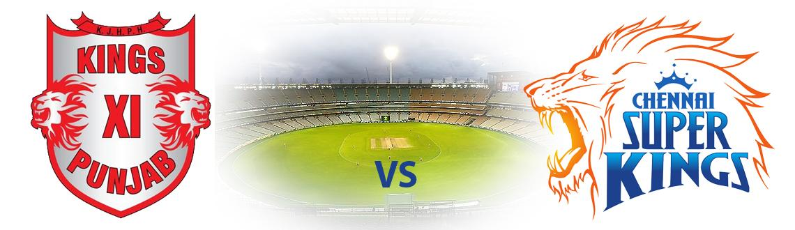 Book Online Tickets for Chennai Super Kings vs Kings XI Punjab@C, Chennai. CHENNAI SUPER KINGS VS KINGS XI PUNJAB@CHIDAMBARAM,CHENNAI.