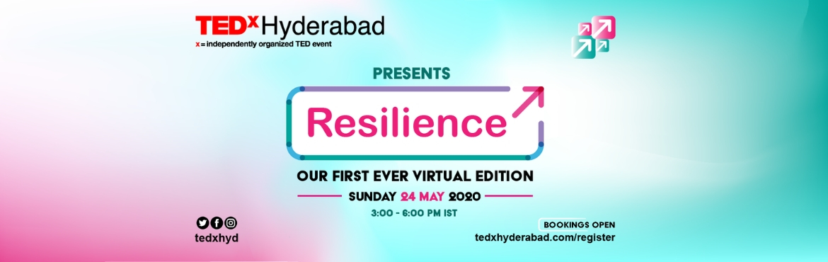 Book Online Tickets for TEDxHyderabad 2019 is On September 22, 2019 - join for a full day of brilliant speakers, mind-blowing conversations, thought-p
