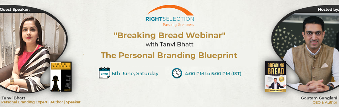 """Book Online Tickets for The Personal Branding Blueprint with Tan, . A Virtual Candid Conversation with Tanvi Bhatt on """"Personal Branding Mastery""""   Learn how to build your personal brand in uncertain times by shifting your mindset from that of a leader to a thought leader.  Some"""
