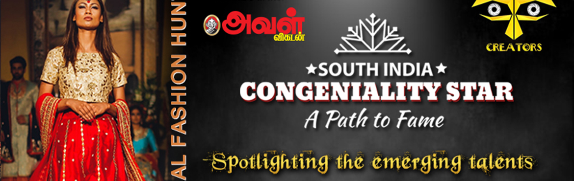 Book Online Tickets for Congeniality Stars - A Path to Fame, Bangalore. REGISTER TO PARTICIPATE Never follow fame or money, just follow your heart; it will take you to your destination. Congeniality Star - South India is a virtual talent hunt that will help you carve a unique path to fame and success. The aim