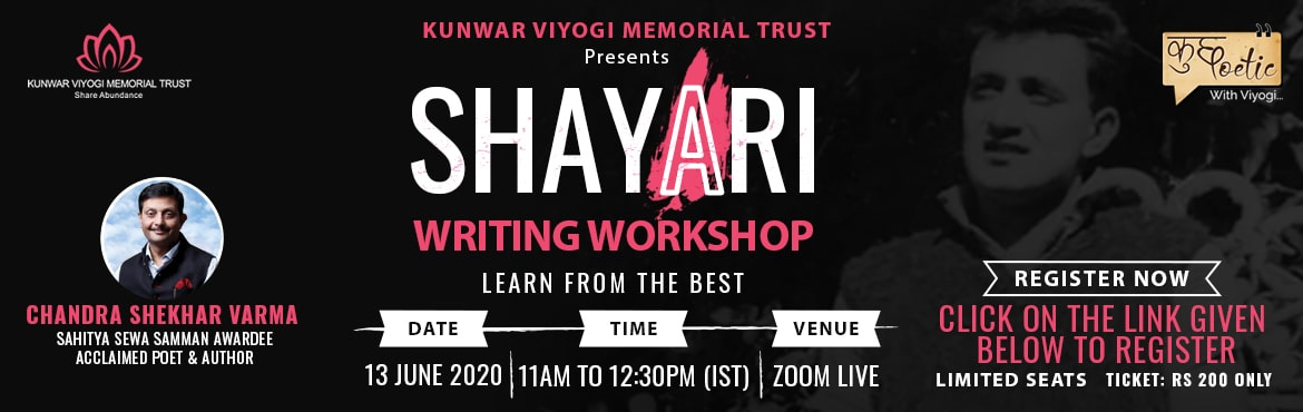 Book Online Tickets for Shayari Writing Workshop, . Good news for \