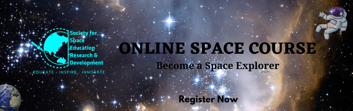 Book Online Tickets for ONLINE SPACE COURSE - ROCKETS, Online. Society for Space Education Research and Development (SSERD) is conducting Online Classes For Rockets!Module - Rockets (8-12th June) 1. Introduction and history 2. Chemistry of Rocket propellants 3. The past, present & future of Rockets 4. S