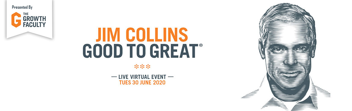 Book Online Tickets for WHAT MAKES GREAT COMPANIES TICK IN UNCER, .   What Makes Great Companies Tick in Uncertain Times Best-selling author and globally revered thought leader,Jim Collinspresents a powerful and exclusive live virtual workshop for CEOs, executive leaders and entrepreneurs who