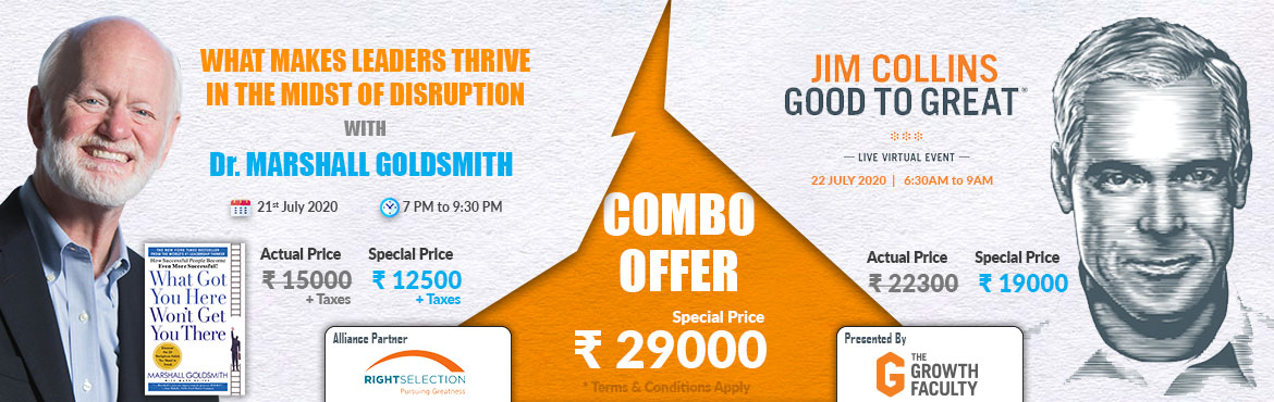 Book Online Tickets for COMBO OF TWO VIRTUAL LEARNING EVENTS , . We all know, the world was put on pause with India in lockdown for over 10 weeks. Having said that on a positive notewe have embraced the online platforms to be able to continue learning from thought leaders. In order to not lose the lear