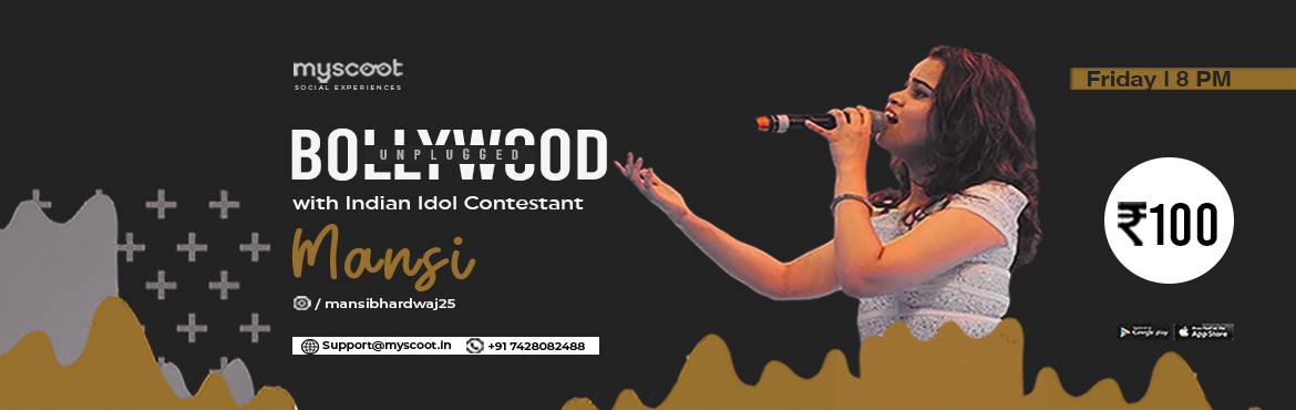 Book Online Tickets for Bollywood Unplugged with Indian Idol Con, .   Hi guys, I am Mansi. My love for singing began very early in my life and performing on stage is what I love to do the most. I\'ve done over 1000 shows in India and Abroad, also been a part of 10 reality shows. I was amongst the top 10 con