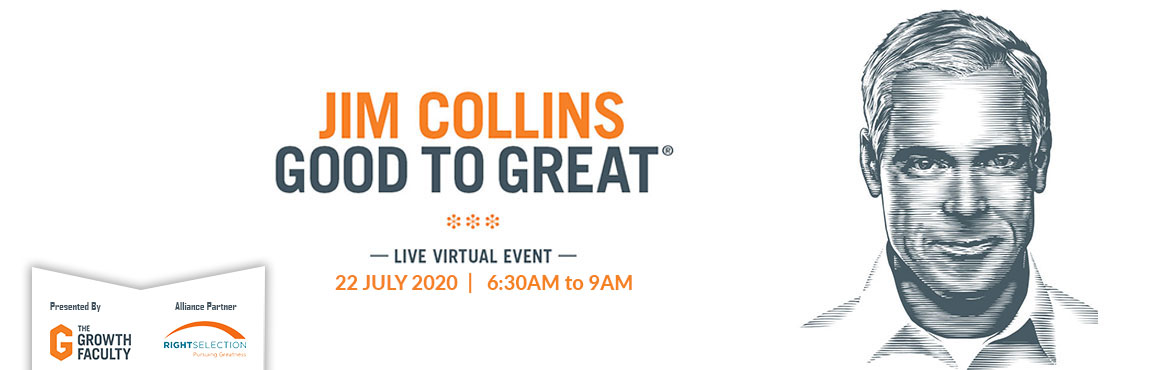 Book Online Tickets for WHAT MAKES GREAT COMPANIES TICK IN UNCER, .  What Makes Great Companies Tick in Uncertain Times  Best-selling author and globally revered thought leader, Jim Collins presents a powerful and exclusive live virtual workshop for CEOs, executive leaders and entrepreneurs who are hig