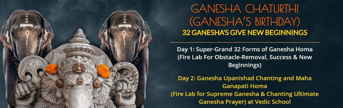 Book Online Tickets for Ganesha Chaturthi 2020, Chennai. Ganesha Chaturthi marks the birthday of Ganesha. It is one of the most important power times in the year to welcome Ganesha, the Lord of fortune and wisdom, into your life and receive his blessings for the fulfillment of your desires, success and pro