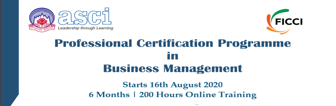 Book Online Tickets for Professional Certification Programme in , . Programme Objective : The programme objectives are to:  Develop understanding of the functional areas of Management Expose the participants to the modern tools of management Enable the participants to learn new IT tools of management and develop expe