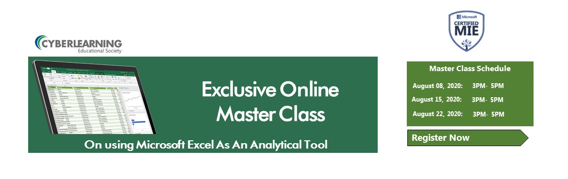 Book Online Tickets for Exclusive Online Master Class On using M, .