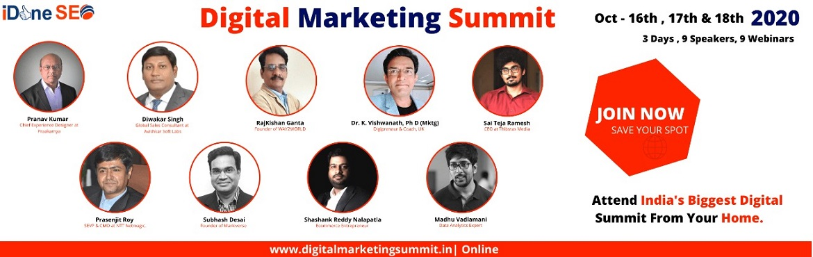 This summit brings together the best marketing professionals in the field of digital marketing where they share their expertise and knowledge with the