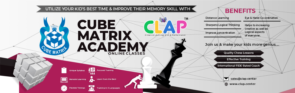 Book Online Tickets for CUBE MATRIX ONLINE CHESS CLASS, .  Want to help your child sharpen his mind, improve hand-eye coordination, and use his free time well? Enroll now for a chess session with the International FIDE certified coach and make a significant impact on their overall development.