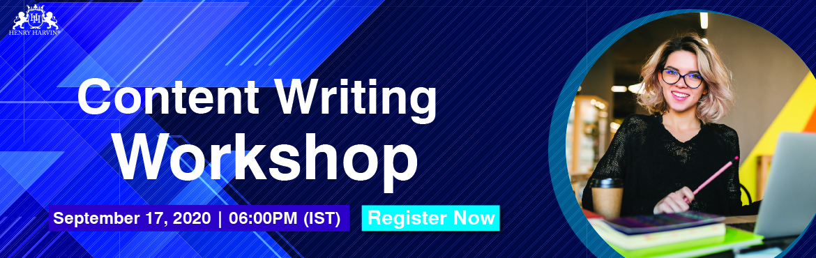 Book Online Tickets for Workshop Webinar: Content Writing and Op, . About this Event Live Workshop Webinar on \'Content Writing & Optimization ' #Free Register Now!  What do You learn?   Language Skills Internet Skills Business & Marketing Writing Content Strategy Technical & Research Wr
