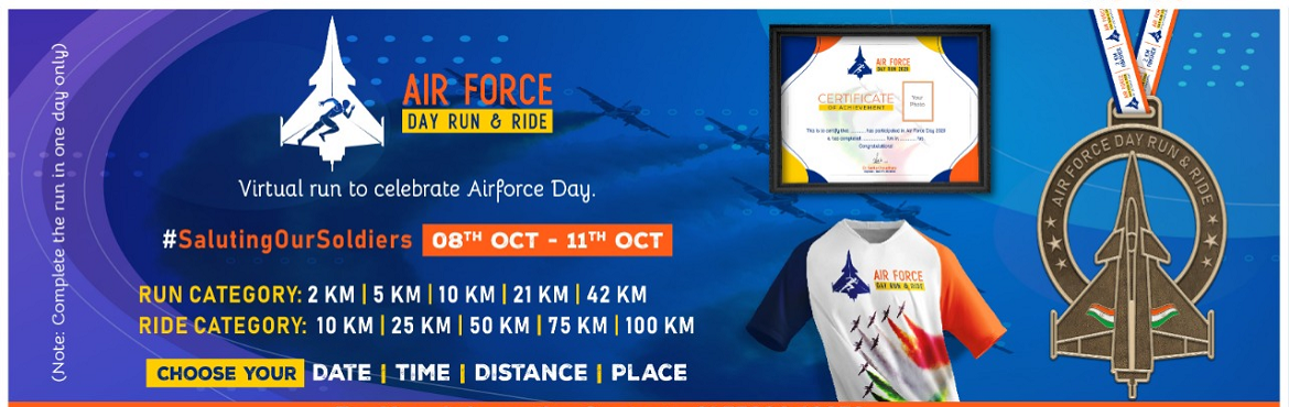 Book Online Tickets for Air Force Day Run and Ride, . Air Force Day Run and Ride! A virtual run/ride to celebrate the outstanding work of \