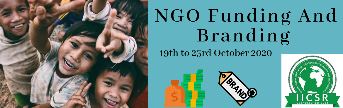 Book Online Tickets for NGO Fundraising and Branding, .  Investment in social causes will remain ironically inefficient unless social sector comes up with transparent ways to measure, monitor and report resource mobilization and impact.  Corporate Social Responsibility has become an important fragmen