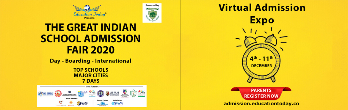 First Admission fair ever to feature top schools across 20 cities in India One platform to meet  interact with schools in 20 cities The only expo whic