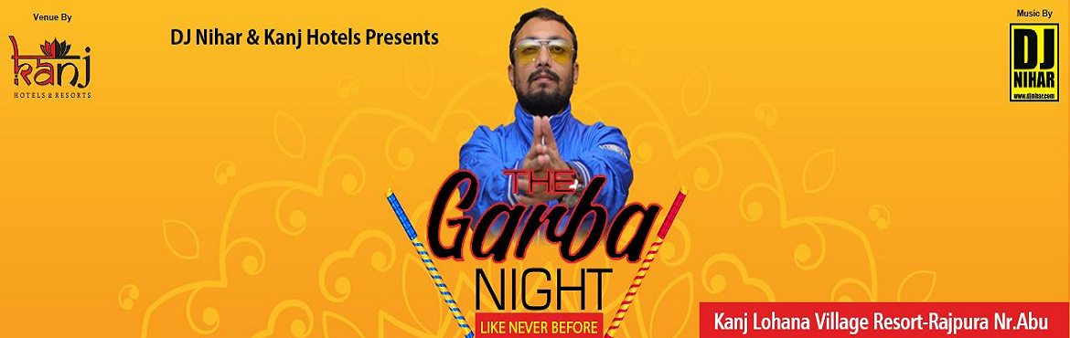 Book Online Tickets for THE GARBA NIGHT BY DJ NIHAR, Sundhamata. Celebrate the spirit of Navratri with9 Night / 9 famous DJ's.Get ready to Groove with your Dandiya sticks, Festive outfit & Cool Dance Moves for this Navratri withDJ Nihar and Famous Djs of India. Itinerary Day 1:  Arrive