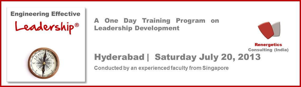Book Online Tickets for Engineering Effective Leadership for Per, Hyderabad. A world recognized best-in-class Leadership Development Program now for the first time in Hyderabad.