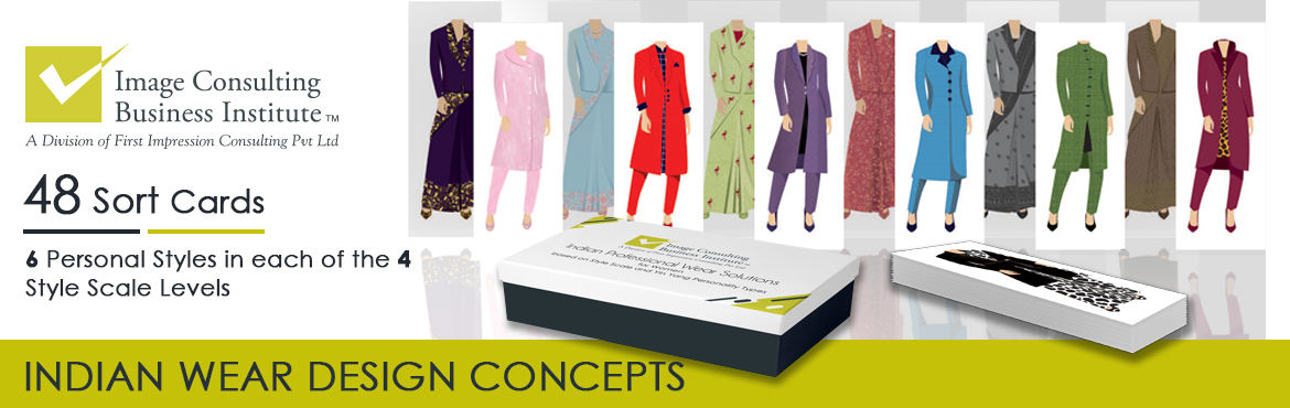 Book Online Tickets for Indian Style Scale option with 6 levels , Mumbai.  Grab a set of 48 sort cards  Indian Professional Wear solutions  For 6 personal styles  In all 4 style scale levels   INDIAN/ INDO-WESTERN PROFESSIONAL WEAR OPTIONS FOR 6 PERSONAL STYLE CATEGORIES  IN ALL FOUR LEVELS OF THE STYLE SCALE The