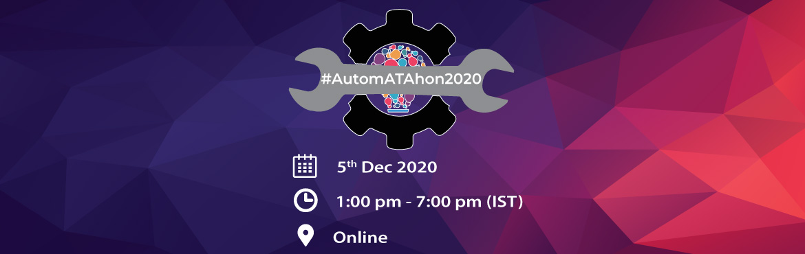 Book Online Tickets for AutomATAhon2020 - Hackathon for testers, . Are you ready to take on the toughest test automation challenge? #ATAGTR2020 is continuing the #AutomATAhon tradition that was started for the first time in 2017. This is the 4th edition of the competition. Meant for testing community to participate