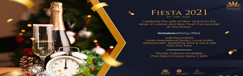 Fiesta 2021 - New Year Eve Escape at THE UMRAO - New Delhi | MeraEvents.com