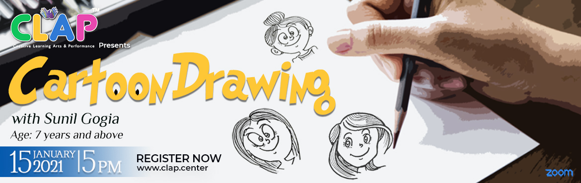 Book Online Tickets for Cartoon Drawing Workshop with Sunil Gogi, Mumbai.  Cartooning has the special power to ignite the imagination within you, reduce stress and gives you a sense of accomplishment. Learn the art of Cartoon drawing with Sunil Gogia. As CLAP presents a one day Cartoon drawing workshop with Sunil Gog