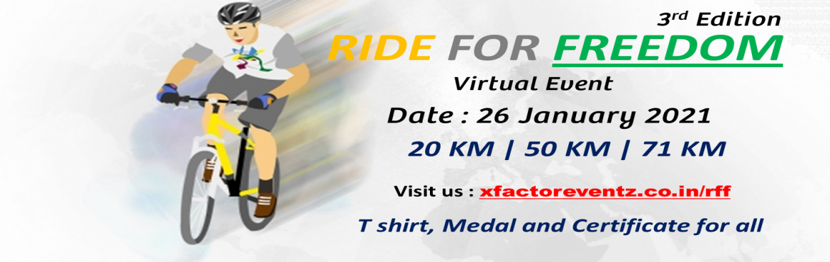Book Online Tickets for Ride For Freedom 2021 3rd Edition, Chennai.   Ride For Freedom 2021 About the Event: The Freedom Ride celebrates the power of the bicycle to connect our communities and our cities. The ride is a fun, social (non-competitive) event and is open to everyone – from those learning to rid