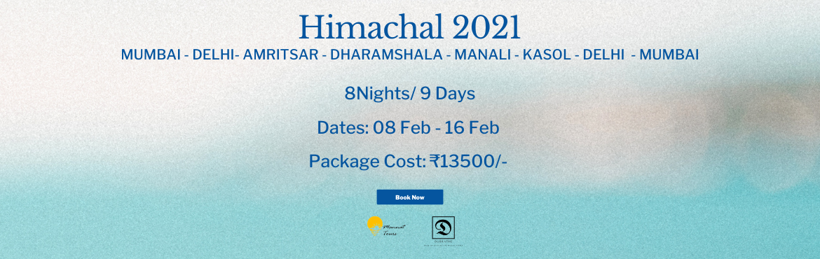 Book Online Tickets for Himachal 2021 with Mannat Tours, Mumbai. Do you know travelling safely to an exotic location has now been told the best medicine of 2021? We need fresh airWe need freedom to moveWe need time and space out of negativityWe need time to chill, enjoy, forget our past and start our new beginning