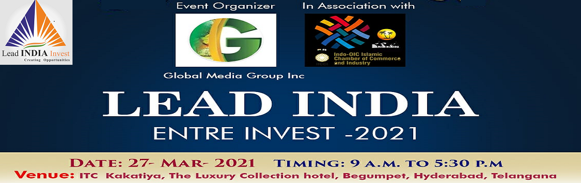 Book Online Tickets for LEAD INDIA ENTRE INVEST 2021, Hyderabad. Running a start-up can be breaking especially when you're stuck and have no clue how to advance forward with your business plan. In order to manoeuvre from the disruptive impact of pandemic since March 2020, a need was felt to arrange a meet up
