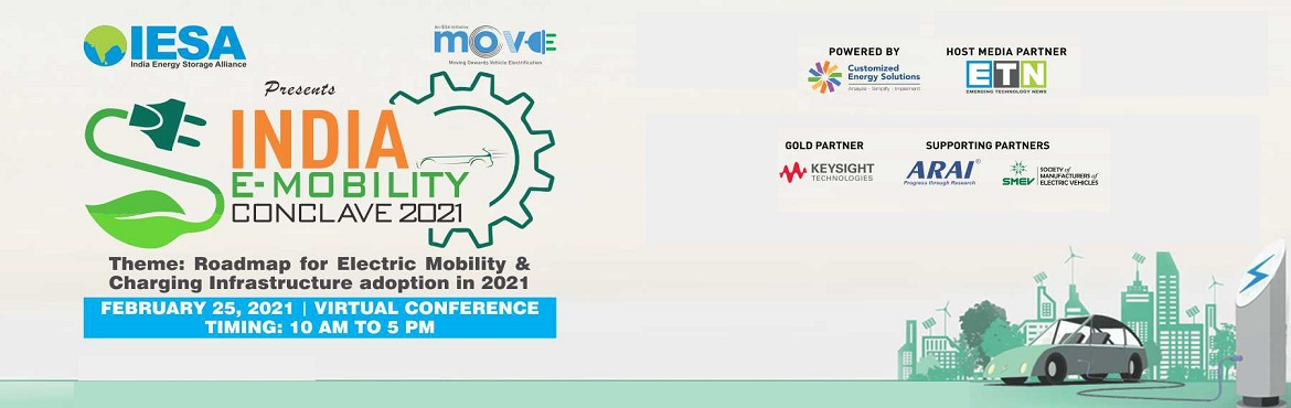 Book Online Tickets for 8th India E-Mobility Conclave (IMC), . India is poised to become one of the largest electric mobility markets globally in the coming decade with the Indian government's drive to curb pollution and reduce reliance on import-dependent fossil fuels. Although we are still in the infancy