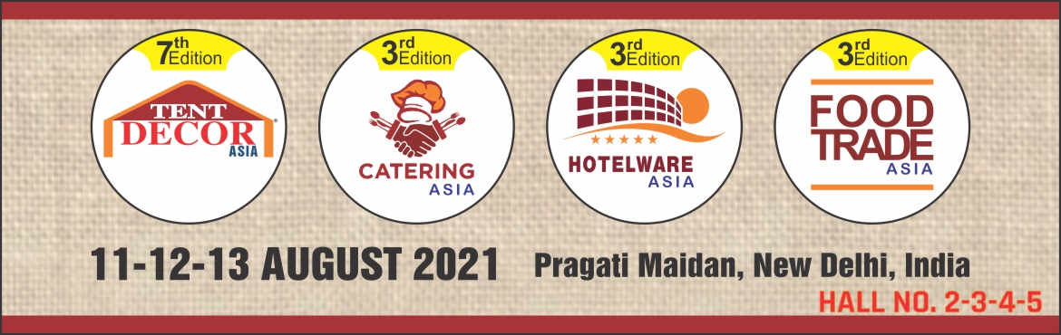 Book Online Tickets for Tent Decor Asia 2021, New Delhi. India is a land of festivals, festivities, events, exhibitions and grand weddings. It is only the tent and decor service providers who converts the dreams into grand realities. They add the necessary tinge, Galore and Impact to it. The meetings, ince