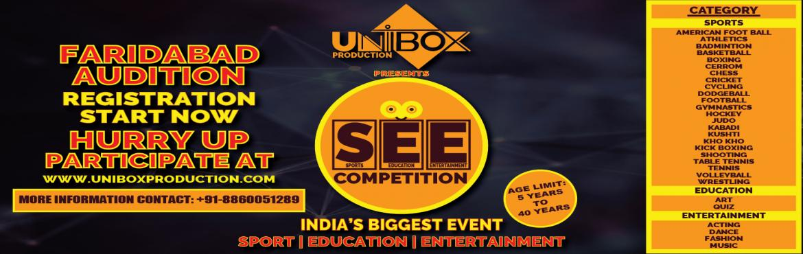 Book Online Tickets for SEE Competition, Faridabad.  Talent doesn\'t discriminate; it knows no biases, it has no preferences. It only celebrates meritocracy. Unearthing the finest and the most astounding talent from the length and breadth of the country is the Nations premier competition,U